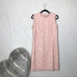NWT Ted Baker Latoya Pink Floral Lace Dress